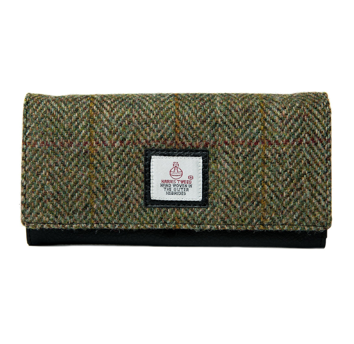 Harris Tweed - Ladies Envelope Purse - Moss Green
