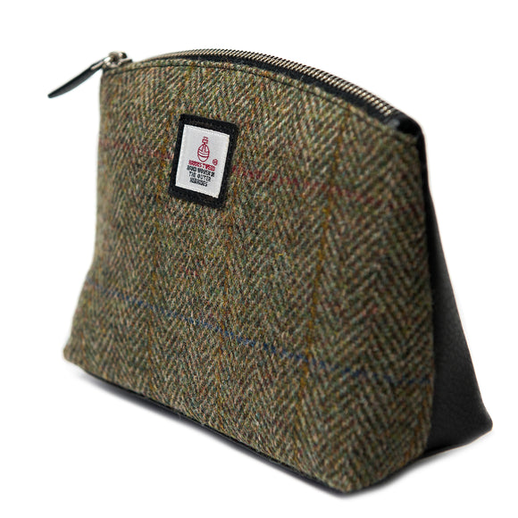 Harris Tweed - Cosmetic Bag - Moss Green
