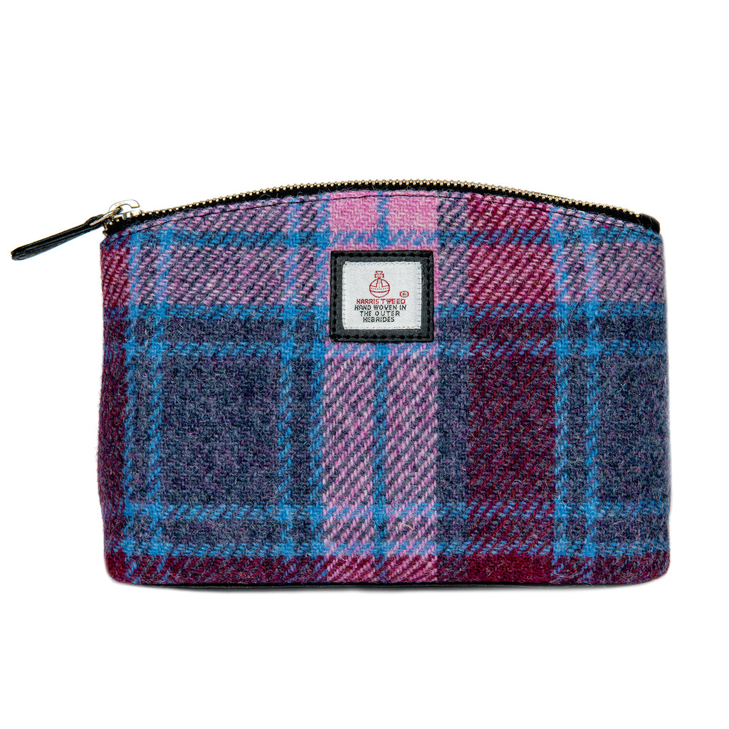 Harris Tweed - Cosmetic Bag - Pastel Pink