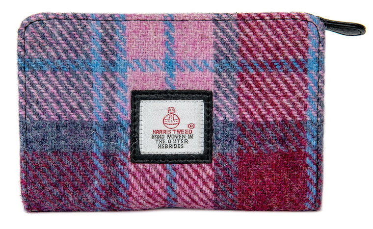 Harris Tweed - Zip Purse - Pastel Pink