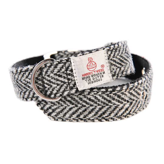 Harris Tweed - Dog Collar - Pink Hound