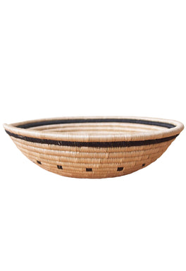 Hand Woven Kaduha Basket - Tan and Black