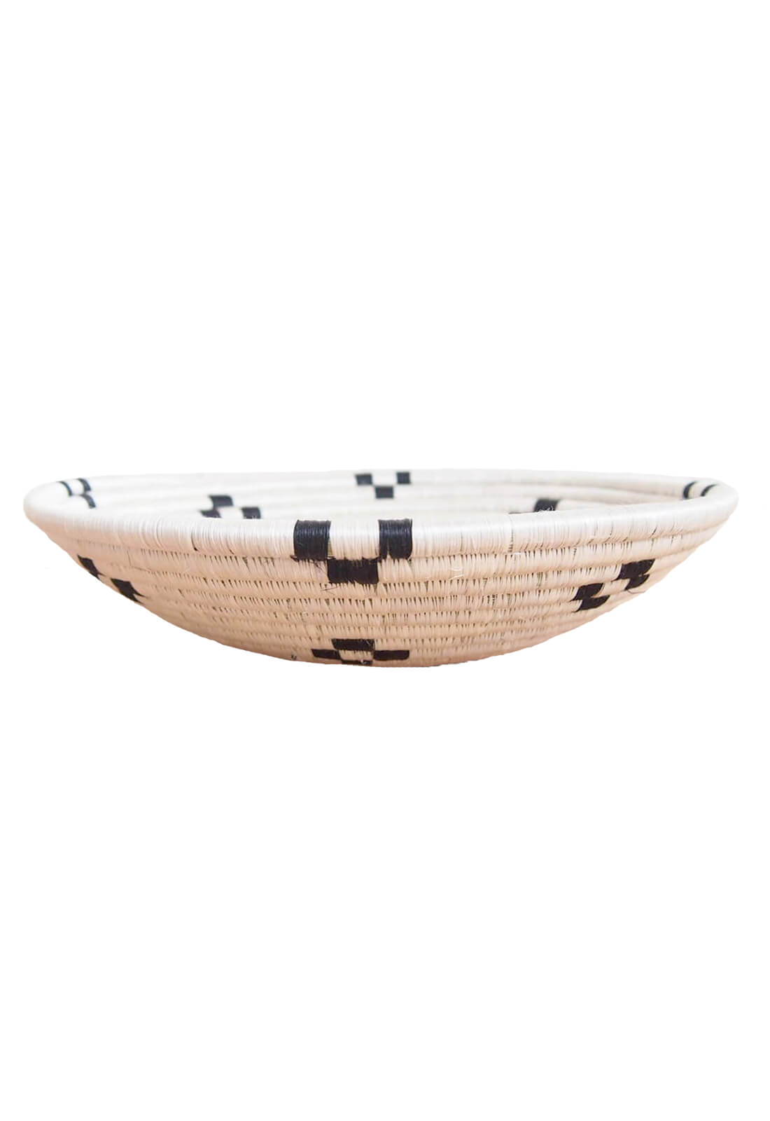 Hand Woven Maraba Basket - White and Black, Small