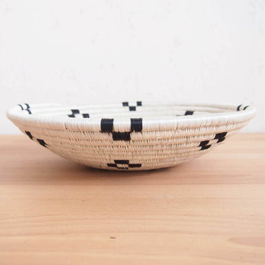 Hand Woven Maraba Basket - White and Black