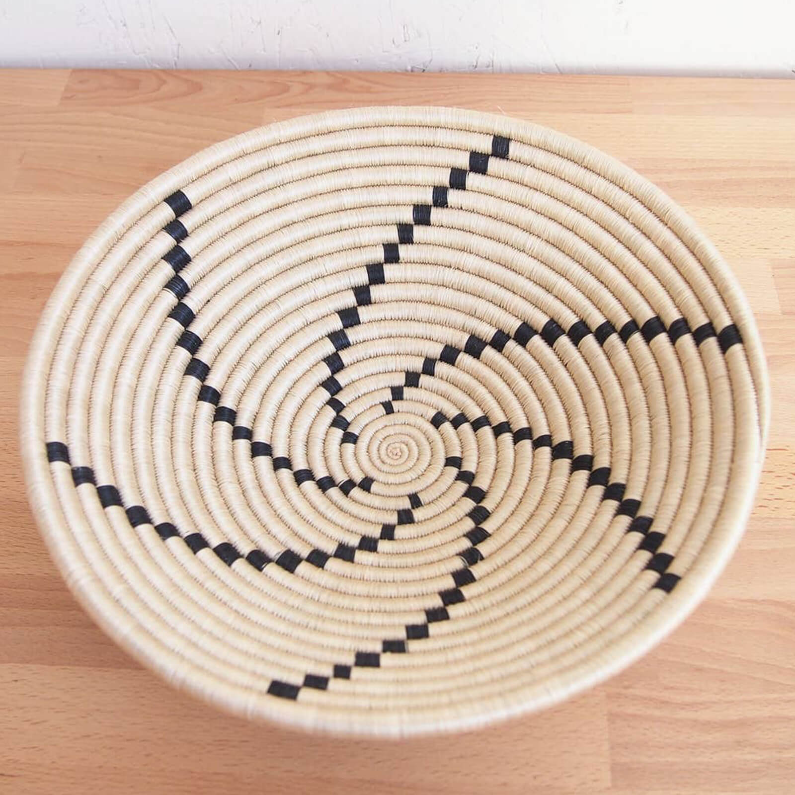 Hand Woven Tanga Basket - Tan and Black