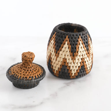 Handwoven Ilala Lidded Basket - Small, 1