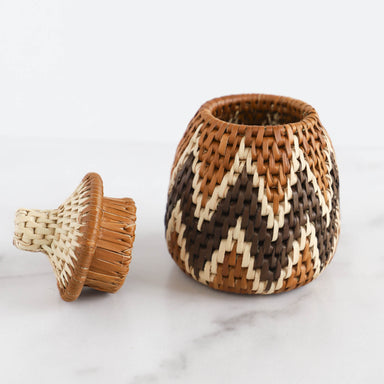 Handwoven Ilala Lidded Basket - Small, 2