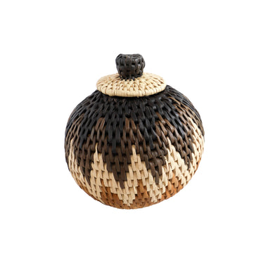 Handwoven Ilala Lidded Basket - Extra Small, 1