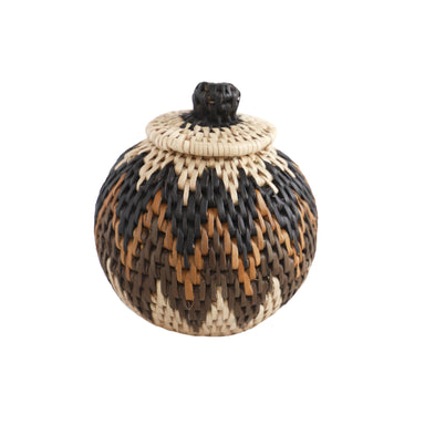 Handwoven Ilala Lidded Basket - Extra Small, 2