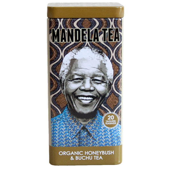 Mandela Tea Commemorative Tea Tin, Organic Honeybush and Buchu Tea Blend