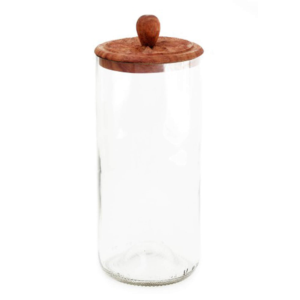 Zanzibar Recycled Glass Canister, Clear - Large