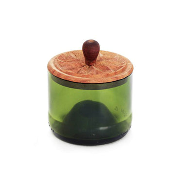 Zanzibar Recycled Glass Canister, Green - Small