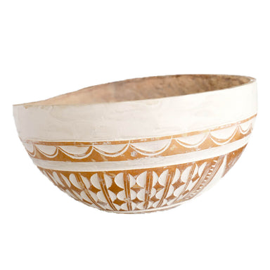Authentic West African Fulani Calabash Bowl, Extra Large, 3