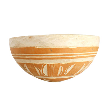 Authentic West African Fulani Calabash Bowl, Medium, 1