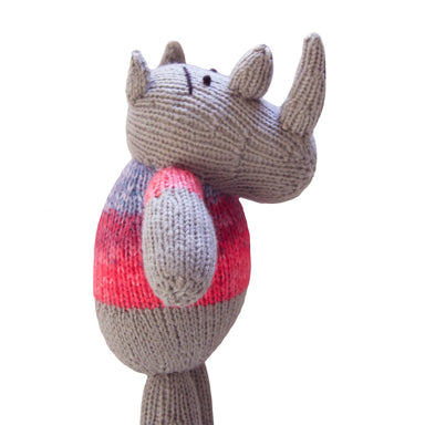 Knitted Rhino Heirloom Toy - Chipembere