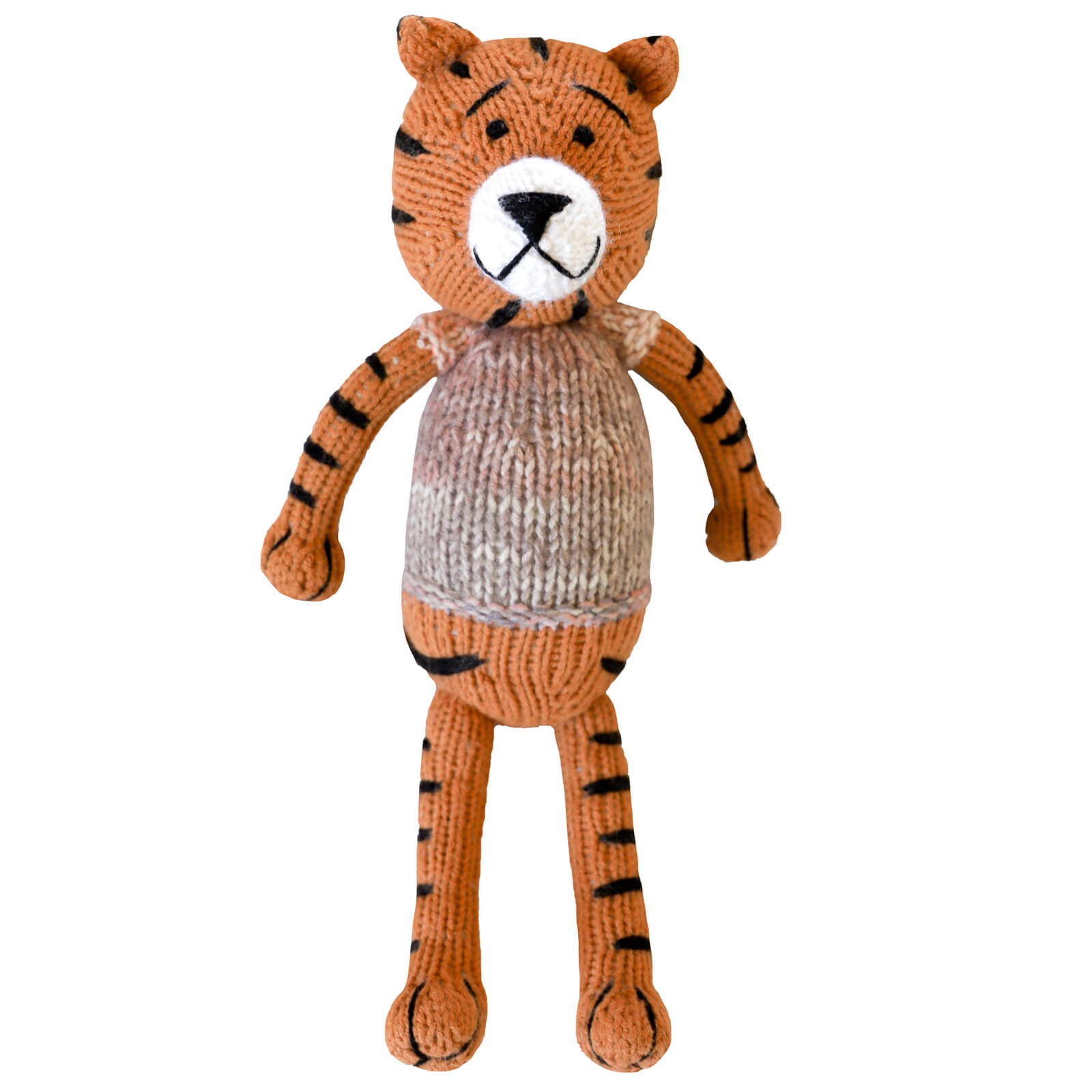 Knitted Tiger Heirloom Toy
