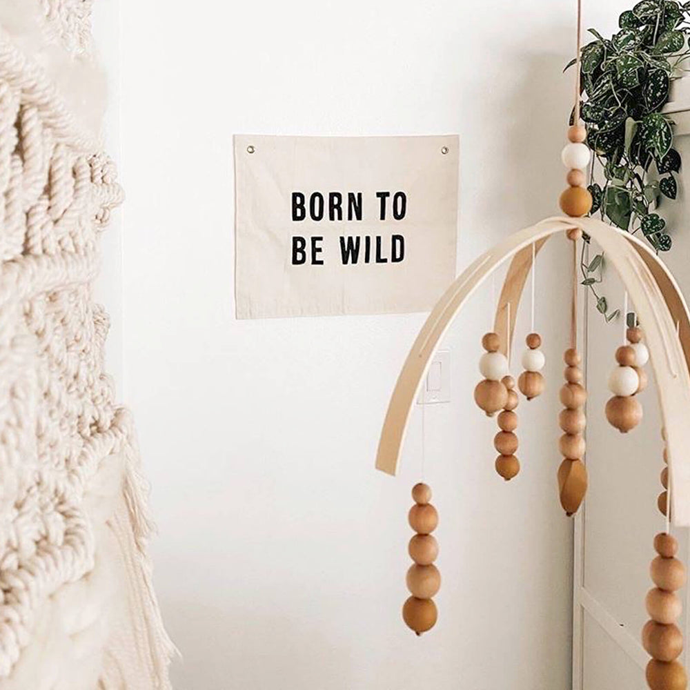 Born to be Wild Banner, Cream and Black