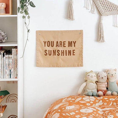 You Are My Sunshine Banner, Peach and Clay