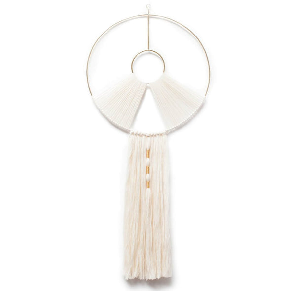 Brass and Thread Circular Wall Hanging - Large