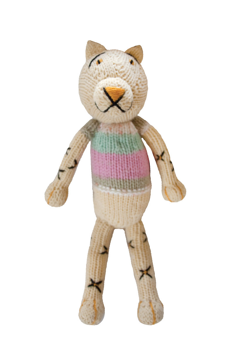 Knitted Leopard Heirloom Toy - Mbada
