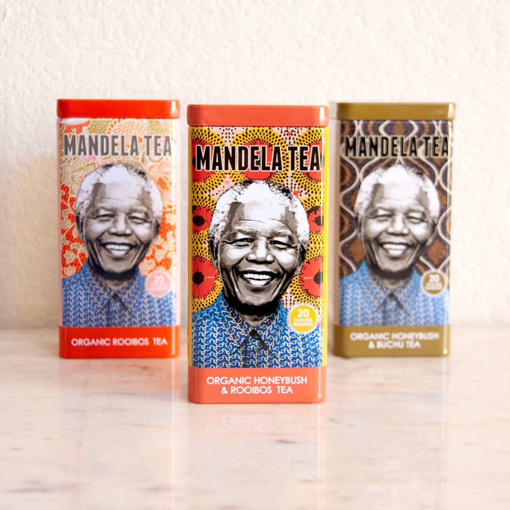 Mandela Tea Commemorative Tea Tin, Organic Rooibos Tea