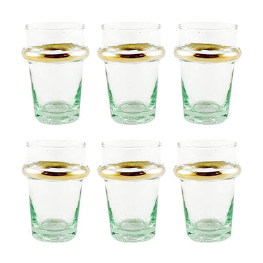 Verre Beldi Moroccan Tea Glasses with Gold Accents - Small