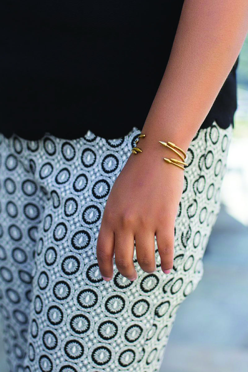 On Point Brass Cuff - Handcrafted