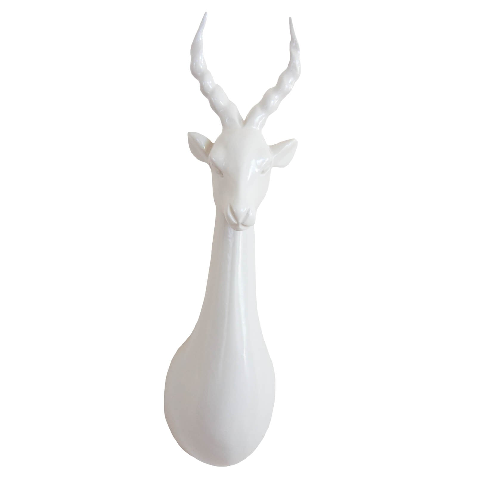 Impala Head Trophy Wall Decor - Misty Grey