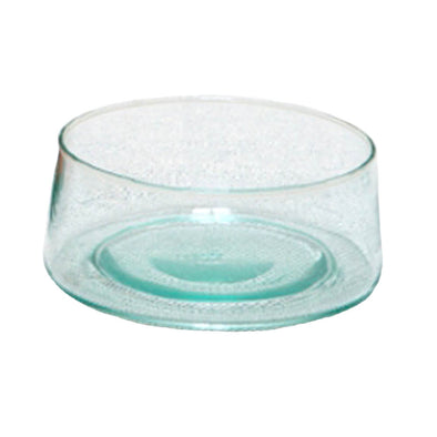 Verre Beldi recycled glass salad serving bowl from Morocco