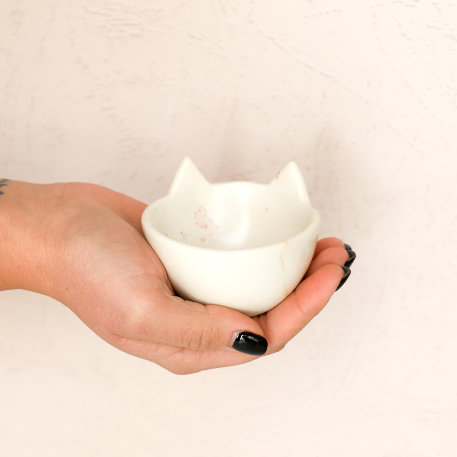 Small Soapstone Cat Ears Bowl
