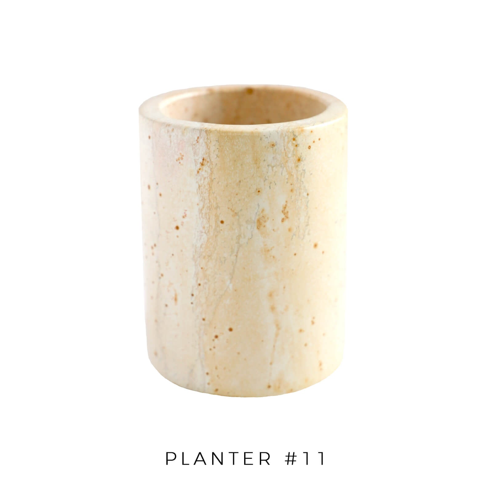 Soapstone Cylinder Planter - Medium