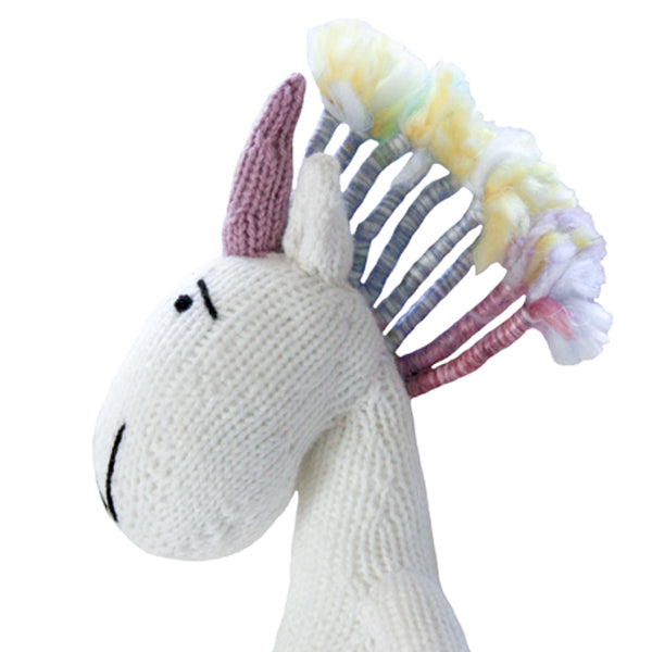 Knitted Unicorn Heirloom Toy