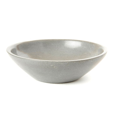 Medium Soapstone Serving Bowl - Grey