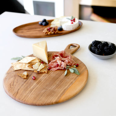 Hand Carved Olive Wood Cheese Board