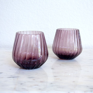 Ngwenya Glass Optic Tumbler, Set of 4, Vintage Purple