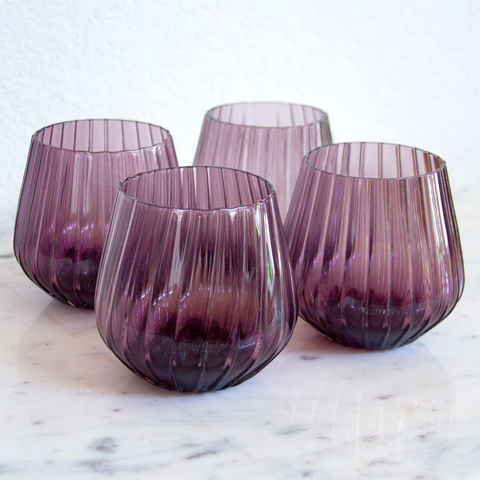Ngwenya Glass Optic Tumblers, Vintage Purple