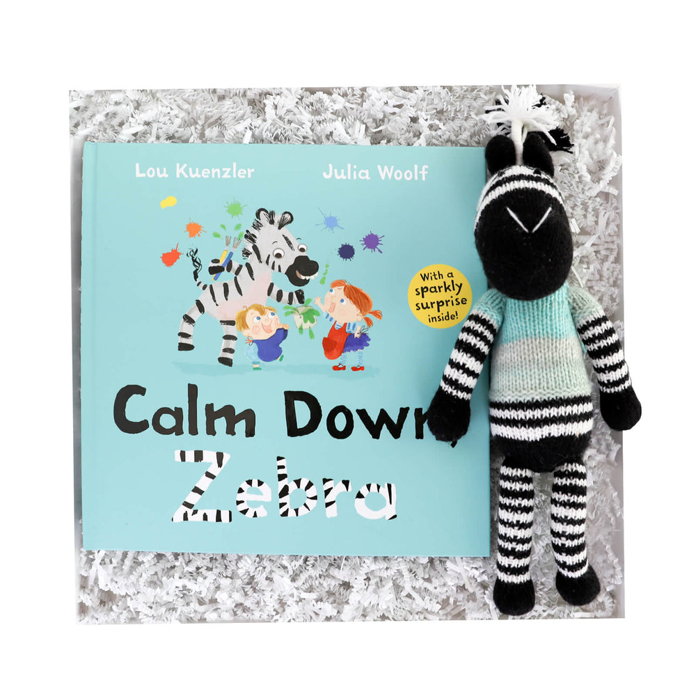 Calm Down Zebra Gift Box