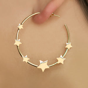 Aretes Star Hoops