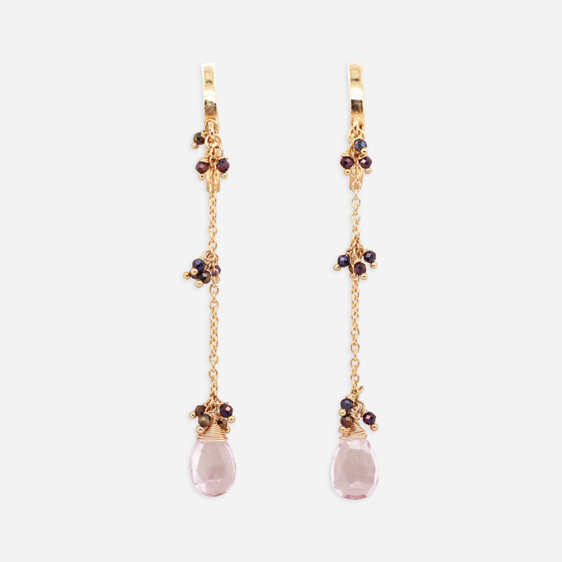 Aretes Purple Drop
