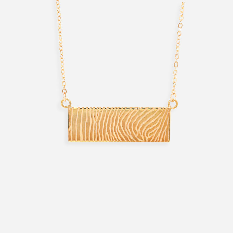 Collar Plaquita Fingerprint