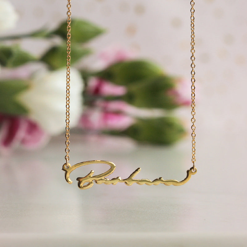 Collar Handwritten Name