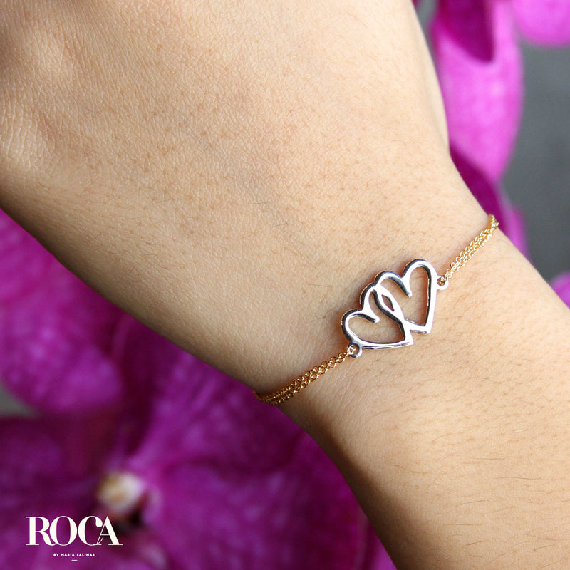 Brazalete Double Heart