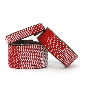 Ombre Red & White Cuff