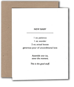 New Baby Cocktail Card