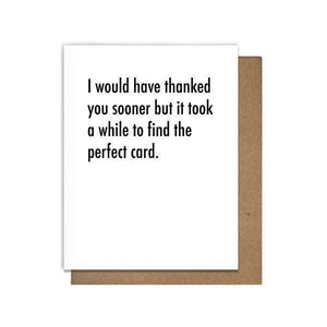Perfect Thank You Card