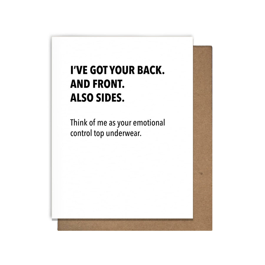 Emotional Support Undies card