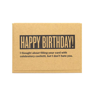 Celebratory Confetti Birthday Card