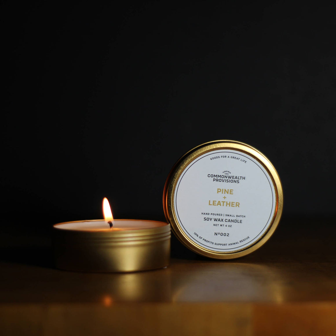 Commonwealth Provisions Travel Candle - Pine + Leather