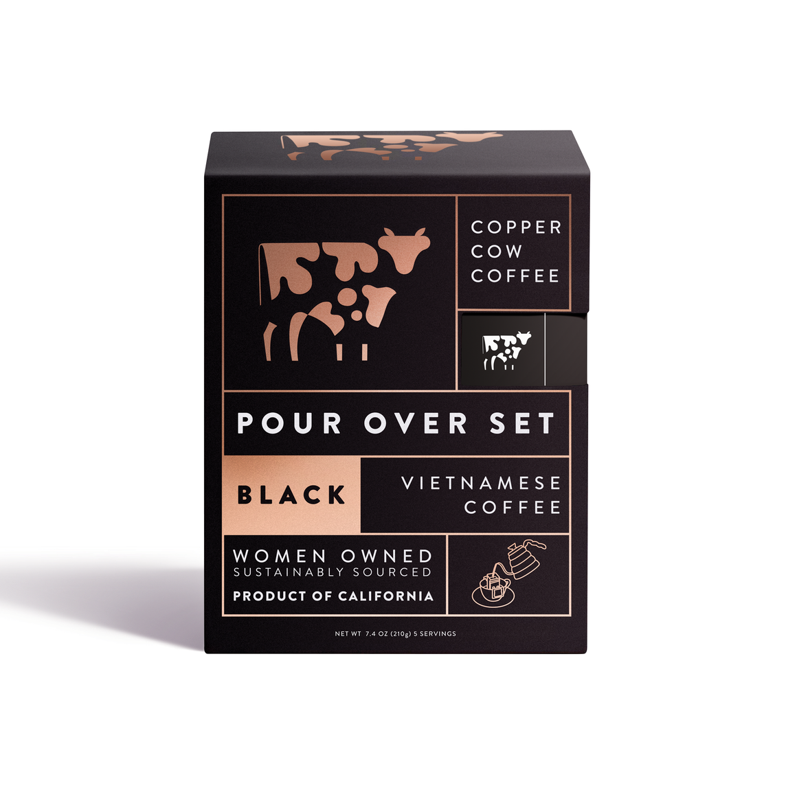 Copper Cow Coffee - 'Straight Up' | 5-Pack