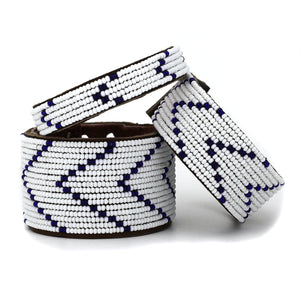 Dark Blue Chevron Cuff